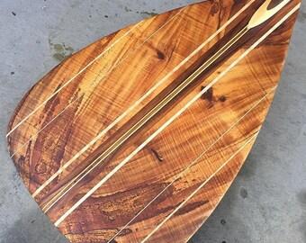 Oversized Koa Outrigger Canoe Paddle