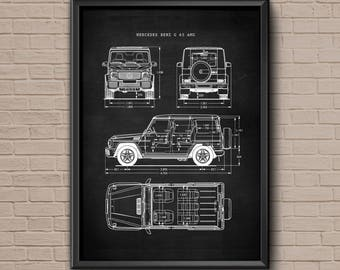 Mercedes amg etsy for Mercedes benz wall posters