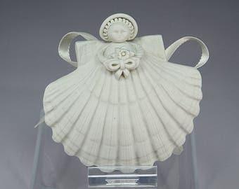 Bridal Shower Gift, Margaret Furlong, Porcelain, Angel, Bouquet, Gift, Beach, Seashell, Ocean, Gift for Girl, Home Decor, Cottage Chic
