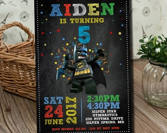 Batman Invitation, Batman Birthday Invitation, Batman, Batman Card, Batman Invite Party, Batman Printable, Batman Digital.