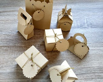 50 Pcs Kraft paper packaging box, Gift Boxes, Paper box, Wedding Gift Box, Kraft paper packaging box, Natural Kraft Paper Boxes,