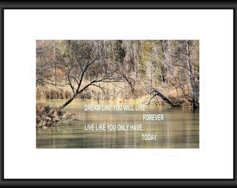 Only Today, Photography, Free Shipping, Motivation, Print, Framed Print, Canvas Wrap, Canvas with Floating Frame, Wall Art, Home Decor, Art
