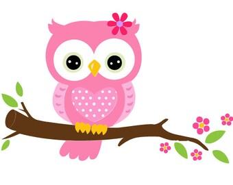 owl on a branch svg/owl svg/cute owl svg