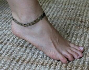 Silver Ankle Bracelet, Beach Ankle Bracelet, Ankle Jewelry, Foot Jewelry, Summer Jewelry, Silver link bracelet, Silver chain bracelet