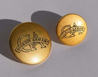 GIORGIO ARMANI Gold tone metal buttons vintage