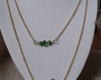 """necklace """"harmony of green and gold"""""""
