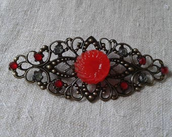 yummy brooch, red candy""