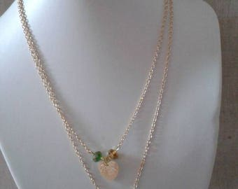 "double necklace ""two little Golden hearts"""