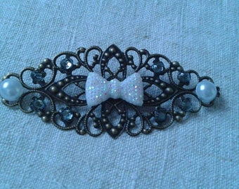 "brooch print ""beautiful white bow"""