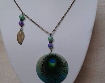 pretty necklace and Peacock feather pendant