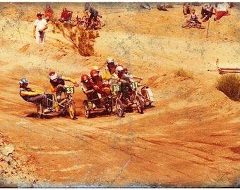 "Vintage BMX Sidehacker, BMX Race 10"" x 7"" Reproduction Metal Sign B176"