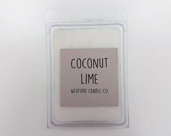 Coconut Lime Scented Soy Wax Melt - Wax Tart - 100% Soy Wax - Wax Melts - Wax Tarts - Wax Melter
