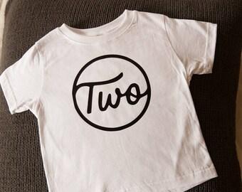 2nd birthday tee, two year old birthday shirt, second birthday shirt, hipster cool kid design