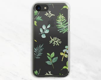 Leaves Pattern iPhone 7 Case Clear iPhone 6 Case Clear iPhone 6 Plus Case Clear iPhone 7 Plus Case Clear iPhone Case Clear