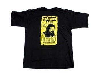 Cactus Jack wrestling 'Wanted' T-Shirt size XL wwf wwe ecw wcw