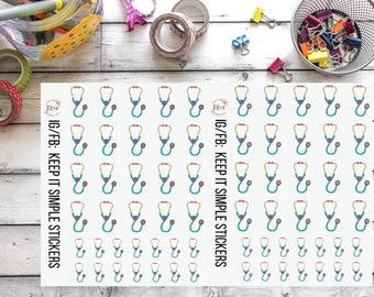KeepItSimpleStickers Vet Hand Drawn Planner Stickers