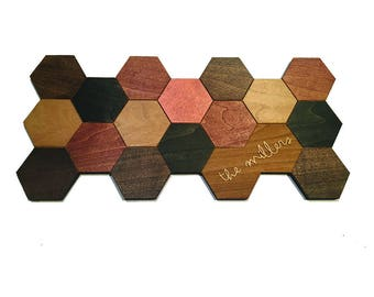 Customized Hexagon Wall Hanging