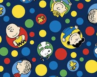 Peanuts Dots Printed Fleece Tied Blanket