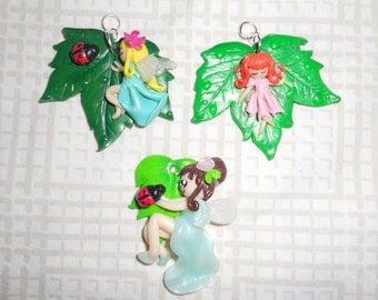 Pendant: a pretty fairies on a sheet