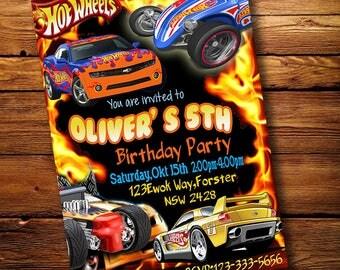 Hot Wheels Invitation, Hot Wheels Birthday Invitation, Hot Wheels Cars, Printable Invitation, Hot Wheels Invites, Hot Wheels Party