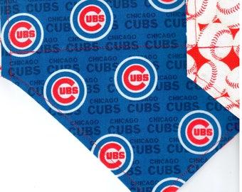 Chicago Cubs Mini Logo Bandana | Dog Bandana | Over the Collar Dog Bandanas | Custom Dog Bandana (XS - M)