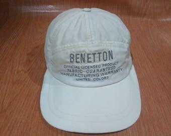 Vintage Benetton Cap Hat Vintage Benetton