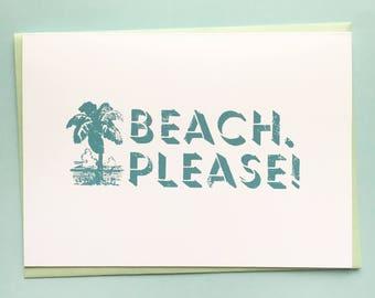 Beach, Please! Card
