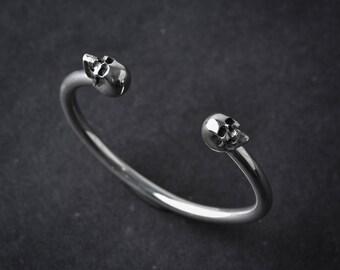 Large Skull Cuff Bracelet
