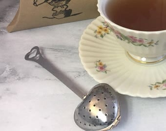 One Heart Shaped Tea Infuser Strainer Handled Spoon Ships within 3 business days from USA
