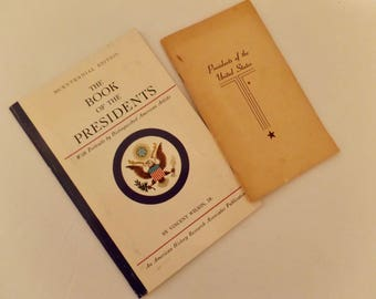 2 Vintage Book of Presidents of the United States Abraham Lincoln John F. Kennedy John Adams George Washington More