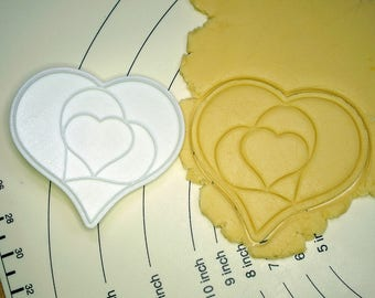 Hearts in Heart Cookie Cutter and Stamp