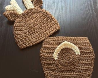 Deer newborn outfit - Baby deer outfit - Deer outfit - Baby deer costume - Baby deer hat - Deer nursery - Baby deer - Baby deer nursery