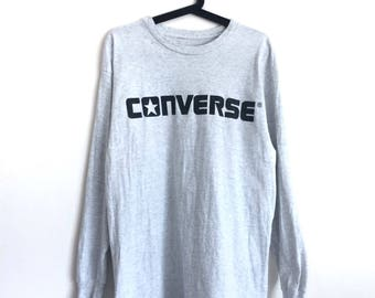 Vintage CONVERSE long sleeve tee spell out jumper
