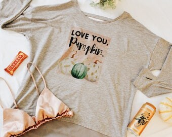 Love You Pumpkin Taupe Mesh Workout Top