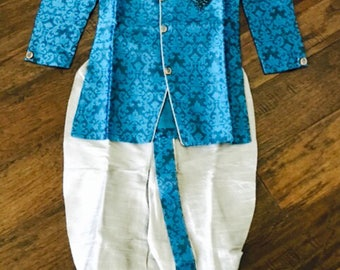 Kids Toddler Sherwani/ Toddler Boys Indian Wear/ Toddler boys kurta Salwar/Boys Sherwani / 2 in 1 Sherwani with Dhoti/Dhoti Kurta