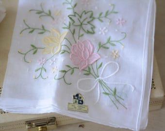 Delicate vintage floral  handkerchief