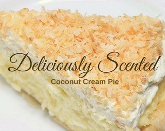 COCONUT CREAM PIE Fragrance Oil 2 or 4 oz for candles, soap, perfume, cosmetics, soap making, best, pure, skin safe, supply, concentrated