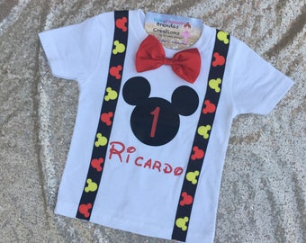 Mickey mouse birthday shirt, mickey mouse birthday outfit, mickey mouse, mickey mouse club house