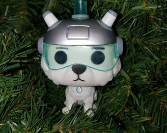 Rick and Morty Christmas Ornament Snowball - flocked