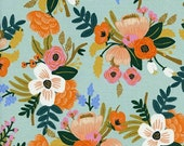Rifle Paper Amalfi - Rayon Fabric - Cotton + Steel - Lively Floral in Mint