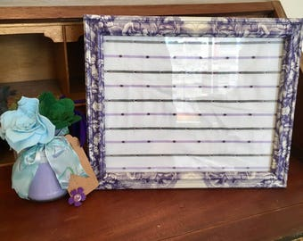 Decoupaged Frame, Decoupage, Photoframe, Blue Floral Frame, Flowers, Special Gift