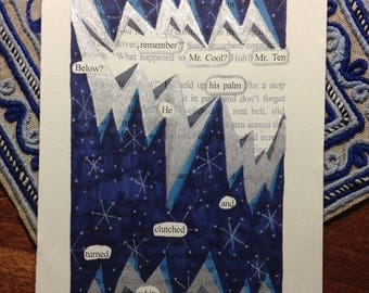 Blackout Poetry -  Snow Miser (Dealing with Blue) - Art and a Donation to AHA
