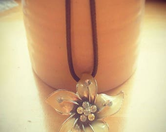 Lemon flower pendant necklace