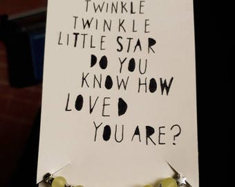 Twinkle twinkle little star bracelet and poem