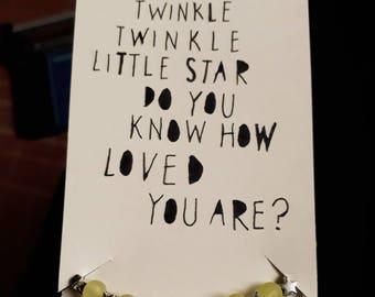 Twinkle twinkle little star bracelet and poem