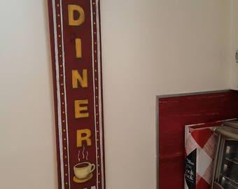 Vintage style kitchen/diner pallet wood sign