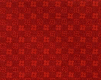 Red pattern fabric floral coupon 90 x 50 cm