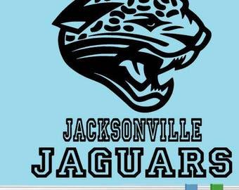 Jacksonville Jaguars sports logo vinyl wall decal vinyl sport wall decor a261