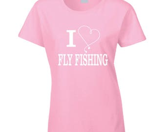 I Heart Fly Fishing T Shirt