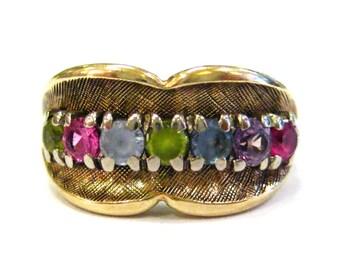 10K Multi Stone Ring - X3158